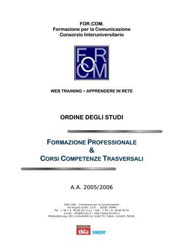 ordine degli studi formazione professionale & corsi competenze ...