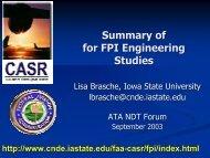 ATA NDT Forum - Status Presentation - September 2003 - Center for ...
