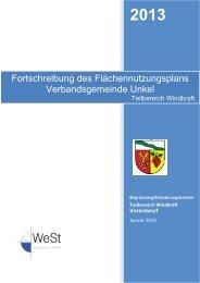 Fortschreibung des Flächennutzungsplans Verbandsgemeinde Unkel
