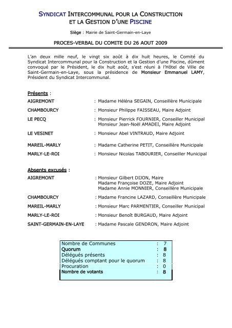 syndicat intercommunal pour la construction et la gestion d'une piscine