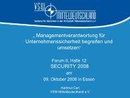 Einbruchschutz in Unternehmen - Security-Forum