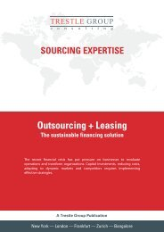 TG Sourcing Expertise: Outsourcing + Leasing - Trestle Group