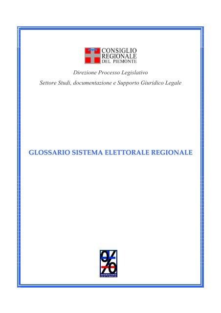 GLOSSARIO SISTEMA ELETTORALE REGIONALE - Consiglio ...