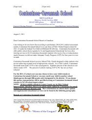 School Choice (Elementary) and SES (K-8) Letter for Cont-Sav ...