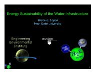 Energy Sustainability of the Water Infrastructure - Microbial Fuel Cells