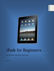 iPads for Beginners - Henderson County Public Schools