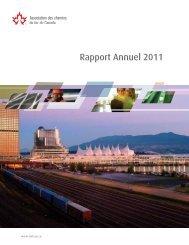 Rapport Annuel 2011 - Railway Association of Canada