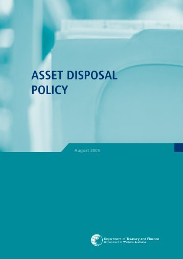 Asset Disposal Policy - Department of Treasury Western Australia