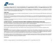 Lovpligtig redegørelse for virksomhedsledelse for ... - DFDS