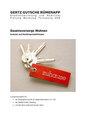 Daseinsvorsorge Wohnen - Planung Gertz Gutsche Rümenapp
