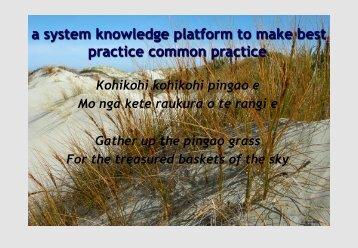 A System Knowledge Platform to - Global Education Leaders' Program