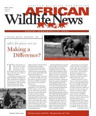 Making a Difference? - African Wildlife Foundation