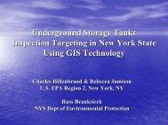 Underground Storage Tanks Inspection Targeting in ... - NEIWPCC