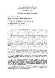 Discurso del Rector de la Anáhuac México Sur, Dr. Javier Vargas