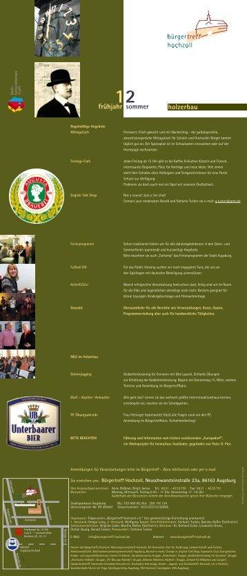 Programm März bis Juli 2012 - Stadt Augsburg