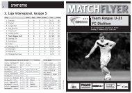 Team Aargau U-21 FC Dietikon MATCHFLYER - FC Aarau