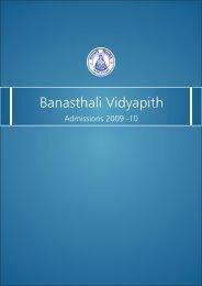 Admission Brochure - Banasthali University