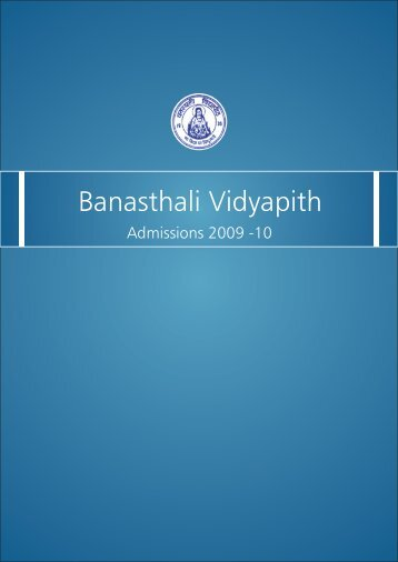 Admission Brochure - Banasthali University