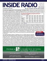 Thursday, June 9, 2011 news INSIDE >>
