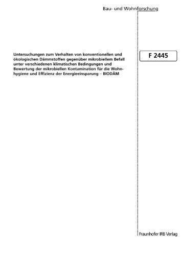 Untitled - raumluft.org » Mensch - Umwelt - Gesundheit