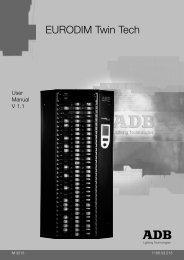 eurodim twin tech us... - ADB Lighting Technologies