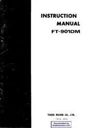 Yaesu - FT-901 User manual - RadioManual.eu