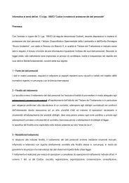 informativa per clienti - IZS della Lombardia e dell'Emilia Romagna