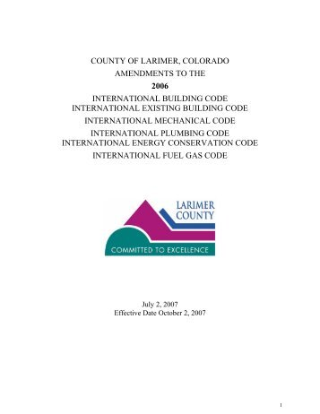 International Building Codes - About Larimer County