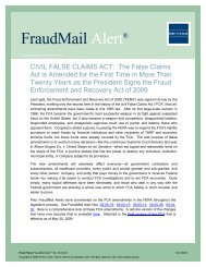 CIVIL FALSE CLAIMS ACT - Fried Frank