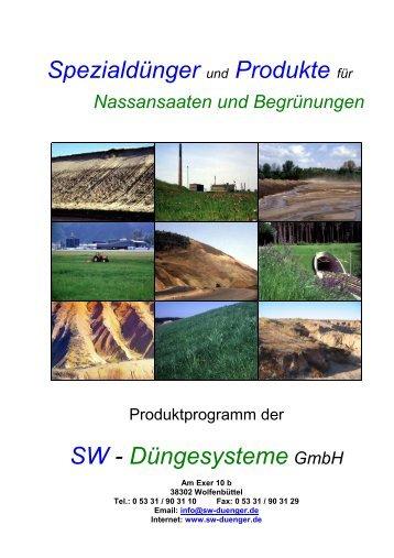 Prospekt Nassansaat - SW-Düngesysteme GmbH