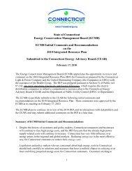 Energy Conservation Management Board - Connecticut Energy ...