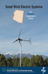 Small Wind Electric Systems: An Arizona Consumer's Guide