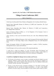 Village Courts Conference 2012 - United Nations in Bangladesh