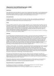 Allgemeine Geschäftsbedingungen (AGB) - MMD ...