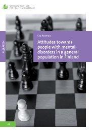 Attitudes towards people with mental disorders in a general - Julkari