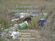Environmental Compliance Required for Roads Funding