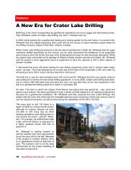 A New Era for Crater Lake Drilling - sonic drill corporation