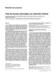 Vías de acceso quirúrgico en nutrición enteral