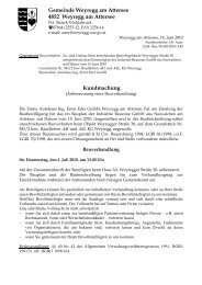 Gemeinde Weyregg am Attersee 4852 Weyregg am Attersee ...