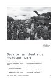 Département d'entraide mondiale – DEM - LWF Tenth Assembly 2003