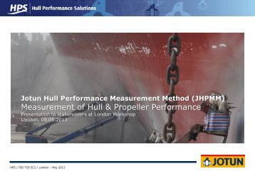 Jotun Hull Performance Measurement Method - Bellona