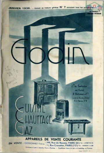 GODIN cuisine et chauffage au gaz, 1936 - Ultimheat