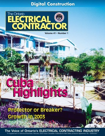 February 2003 - Electrical Contractors Association of Ontario