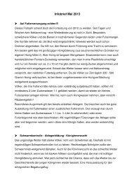 Infobrief Mai 2013