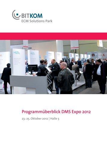 Programmüberblick DMS Expo 2012 - ECM Navigator