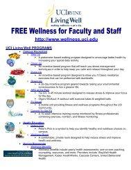 UCI LivingWell Program Flyer - Wellness