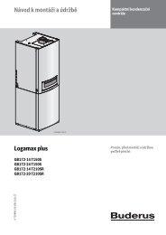 Návod k montáži a údržbě Logamax plus - Buderus