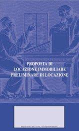 Proposta di locazione immobiliare - preliminare di locazione