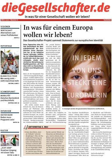 In was für einem Europa wollen wir leben? - Die Gesellschafter.de