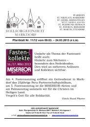Pfarrblatt Nr. 11/12 vom 09.03. – 24.03.2013 (€ 0,30)